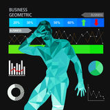 Business geometric Stock Image