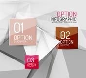 Business geometric option steps infographics Stock Photo