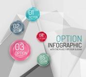 Business geometric option steps infographics Stock Image