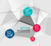Business geometric option steps infographics Royalty Free Stock Image