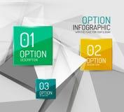 Business geometric option steps infographics Royalty Free Stock Image
