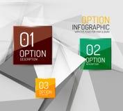 Business geometric option steps infographics Royalty Free Stock Photo