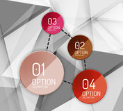 Business geometric option steps infographics Royalty Free Stock Photography