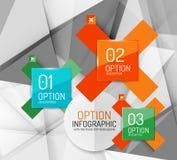 Business geometric option steps infographics Stock Photos