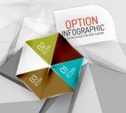 Business geometric option steps infographics Stock Photography