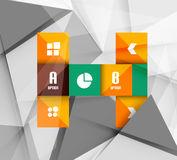 Business geometric option steps infographics Stock Images