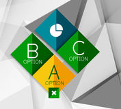 Business geometric option steps infographics Royalty Free Stock Photos