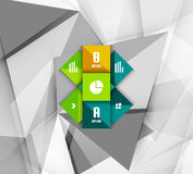 Business geometric option steps infographics Royalty Free Stock Images
