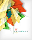 Business geometric shape abstract background Stock Images