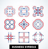Business geometric shape symbols. Icon set Stock Image