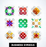 Business geometric shape symbols. Icon set Stock Photos