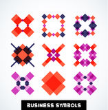 Business geometric shape symbols. Icon set Stock Photo