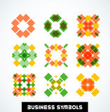 Business geometric shape symbols. Icon set Royalty Free Stock Photo
