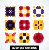 Business geometric shape symbols. Icon set Royalty Free Stock Photos