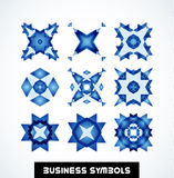 Business geometric shape symbols. Icon set. This is file of EPS10 format Stock Image