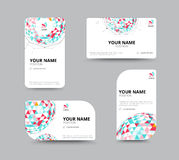Business geometry low polygon on white background. business card Royalty Free Stock Images