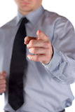 Business gesture. The picture shows a man making a gesture stock image