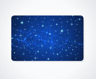 Business / Gift card template. Night sky, stars Stock Photo
