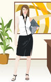 Business girl. An imaginary business girl, for details: LOOK AT HERE if you want this file without background CLICK HERE Vector Illustration