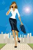 Business girl. Young beautiful business woman Royalty Free Illustration
