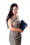 Business girl with case Royalty Free Stock Photography