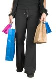 Girl doing some shopping Stock Photography