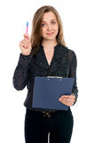 Business girl having a good idea Stock Images