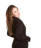Business girl isolated white Royalty Free Stock Photos