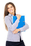 Business girl keeps documents Stock Photography