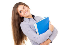Business girl keeps documents Royalty Free Stock Photos