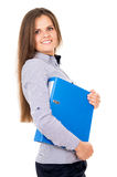 Business girl keeps documents Stock Image