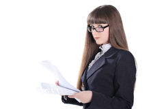 Business Girl Looking At Camera Stock Photos