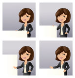 Business Girl Message Stock Image
