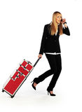 Business girl on a move Royalty Free Stock Photography