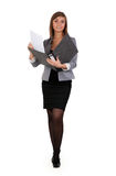 Business girl with a office folder Stock Photos