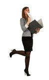 Business girl with a office folder Stock Photo