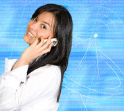 Business girl on the phone Royalty Free Stock Photo