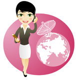 Business girl on the phone. Communications concepts Royalty Free Stock Photography