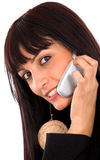 Business girl on the phone Stock Image