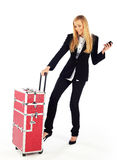 Business girl ready to go Stock Images