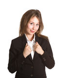 Business girl smiling isolated Stock Photo