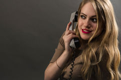 Business girl talking on the phone Stock Photography
