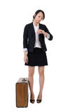 Business girl waiting Stock Photography