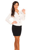 Business girl. On white background Royalty Free Stock Photo