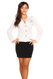 Business girl. On white background Stock Photography