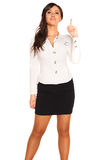 Business girl. On white background Royalty Free Stock Image