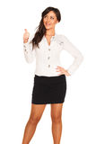 Business girl. On white background Royalty Free Stock Photography