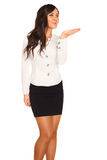 Business girl. On white background Stock Photos