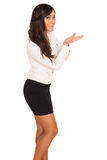 Business girl. On white background Stock Photo