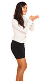 Business girl. On white background Stock Images